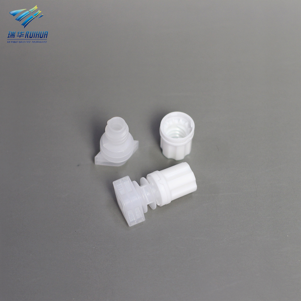 5mm Flexible pouch packaging small plastic shampoo bag spout