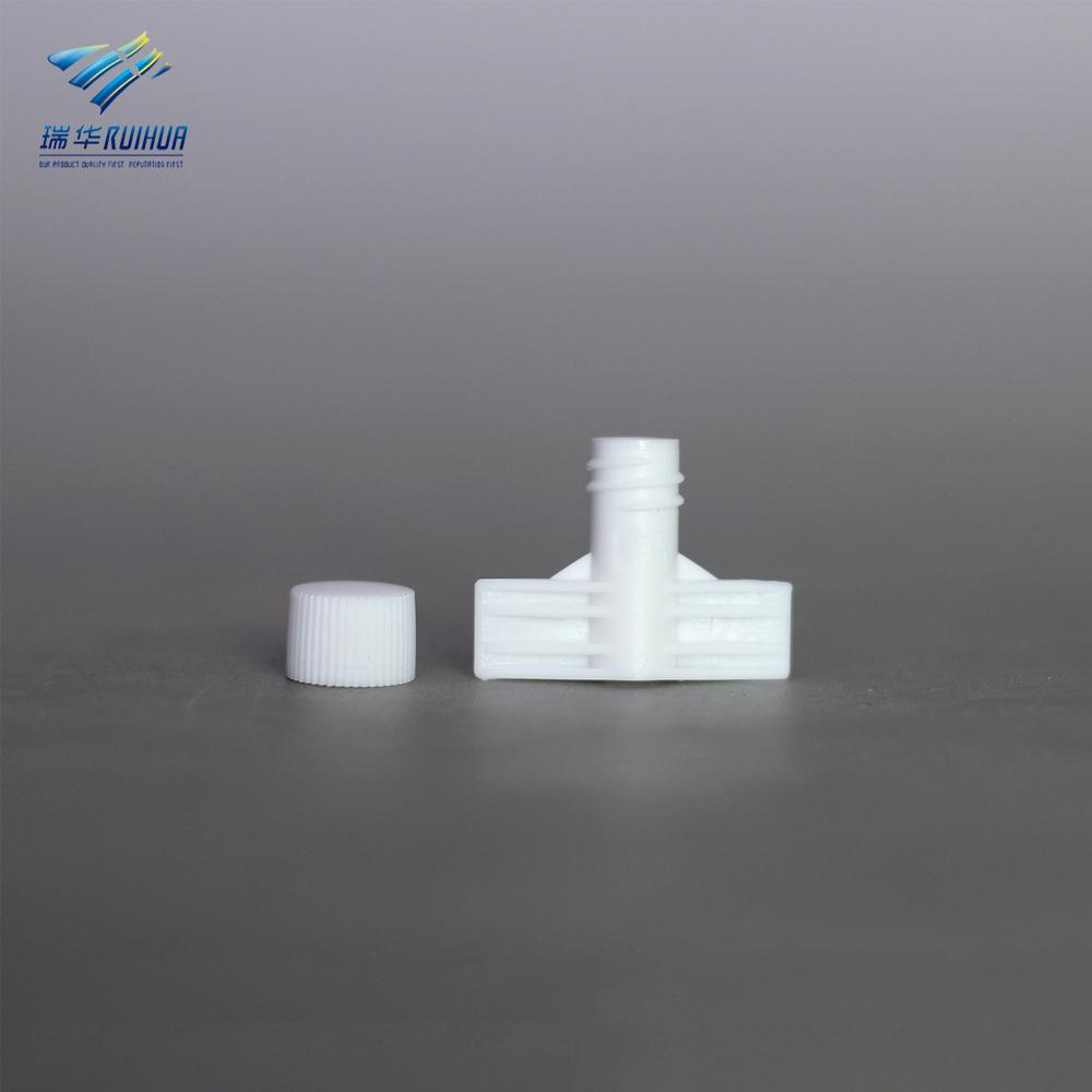 6mm plastic body wash bag plastic spout with cap