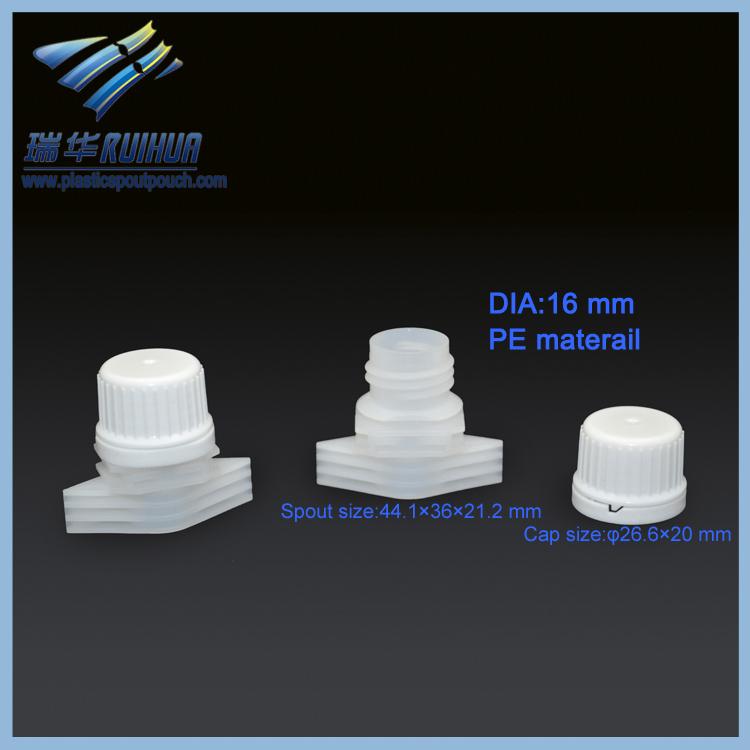 laundry detergent bag plastic flexible spouts caps in bulk