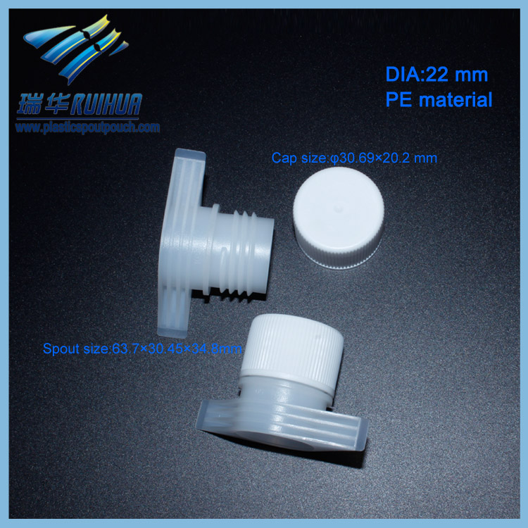 RD-016# Promotional 22mm liquid stand up bag plastic spout screw cap for pouch