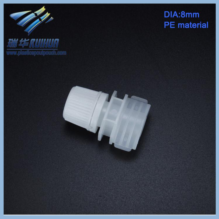8.0 mm mini hotel plastic shampoo bag spout cap for sale