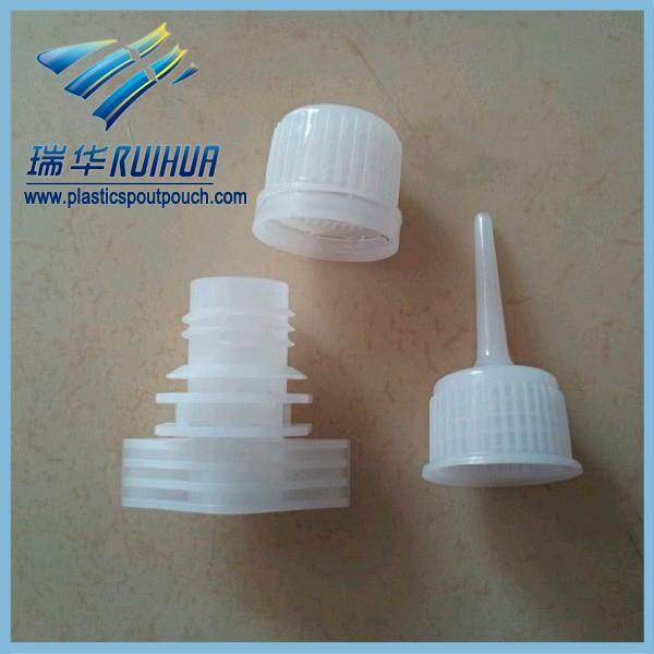 Liquid stand up plastic twist off cap