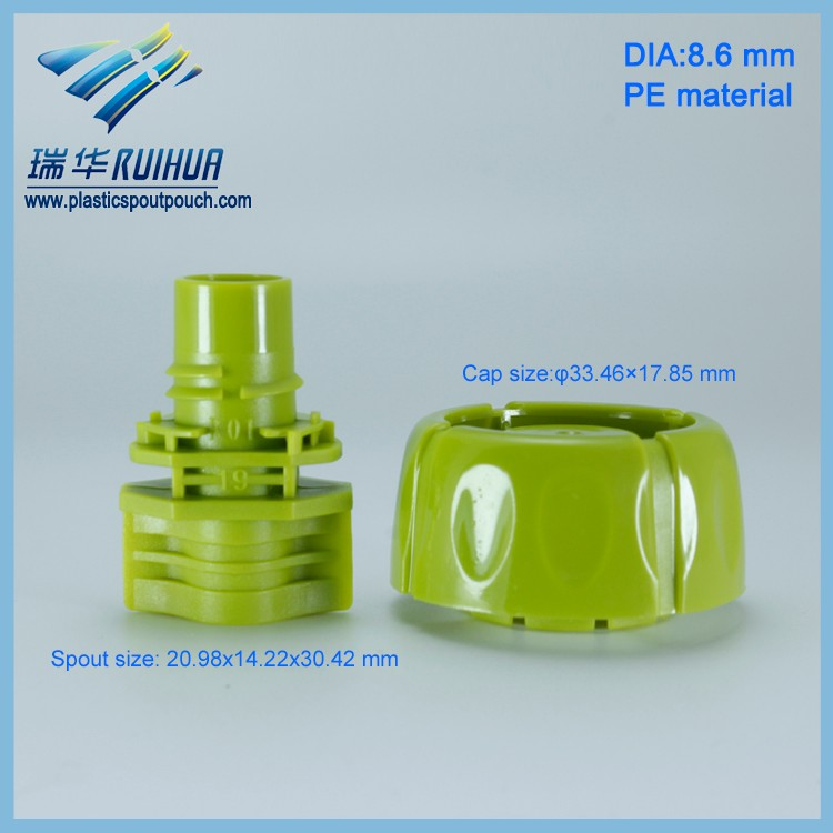 PE 8.6mm plastic anti choke screw cap in bulk