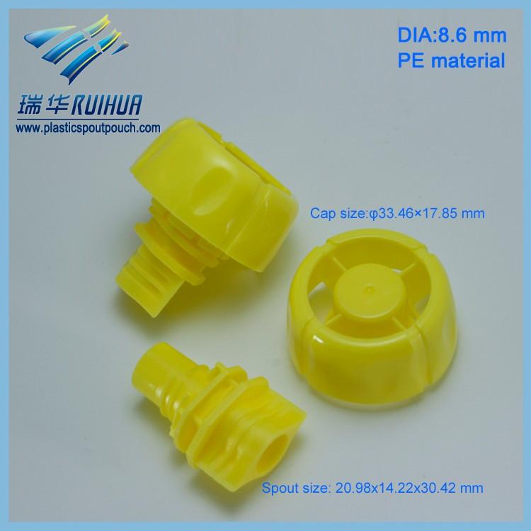 Mushroom shape 8.6 mm PE material spout cap plastic product