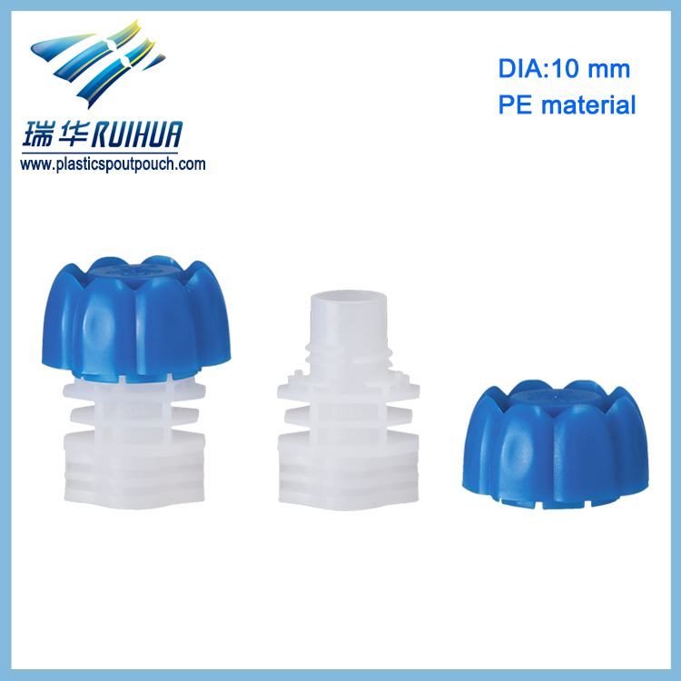 10mm mushroom shape plastic stand up bag screw cap