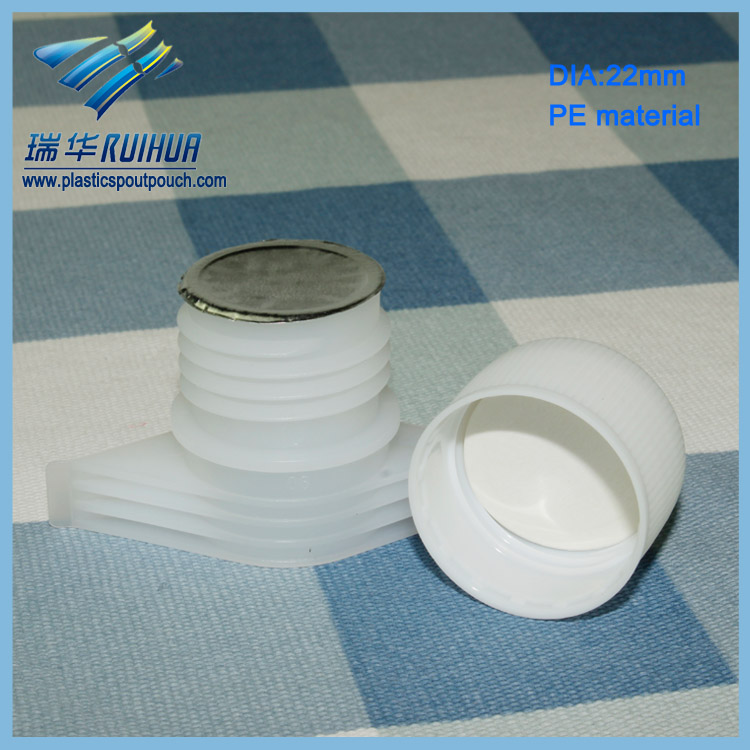 Stand up flexible packing pouch spout with foil seal